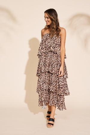 Eb & Ive - Savannah Overlay Dress - Leopard