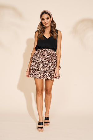 Eb & Ive - Savannah Ra Ra Skirt/Top - Leopard