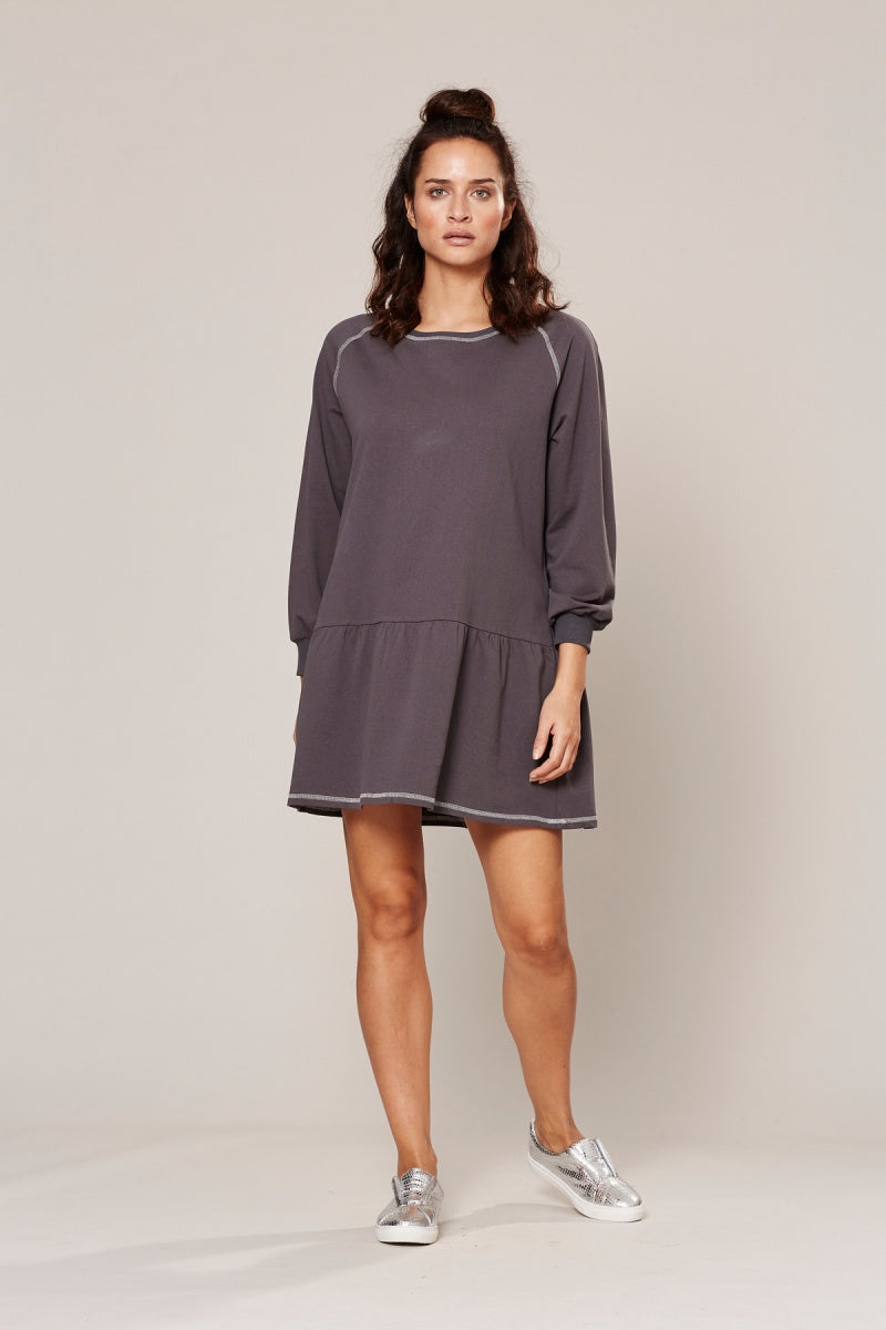 Eb & Ive Zadar Sporte Dress in Steele