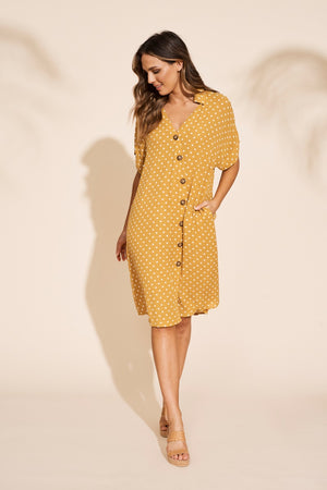 Eb & Ive - Zuma Shirt Dress - Saffron