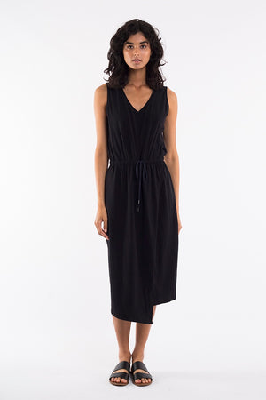 Elm - Solsana Asymmetric Dress - Black