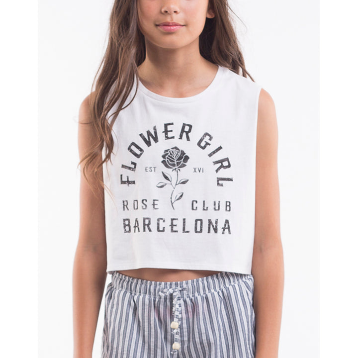 Eve Girl Barcelona Tank in White
