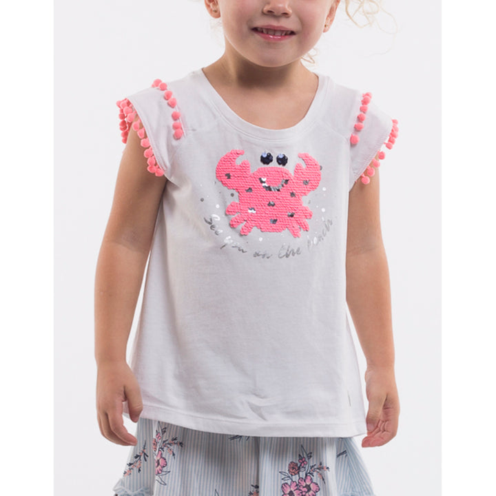 Eves Sister Crab Tee in White