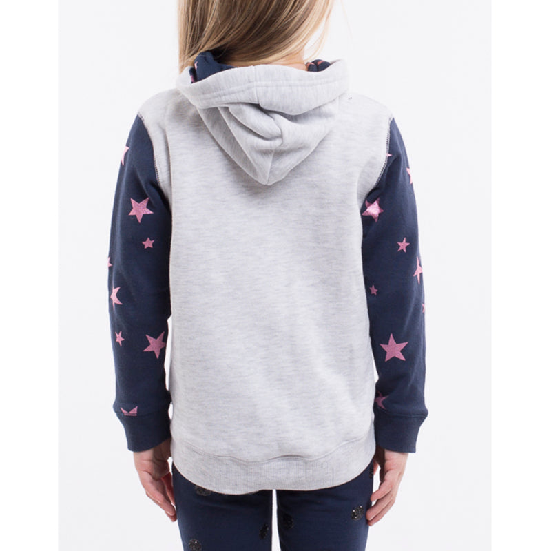Eves Sister Galaxy Hoody in Grey Marle & Navy