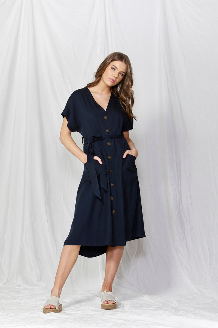 Fate + Becker - Rush Hour Button Down Dress
