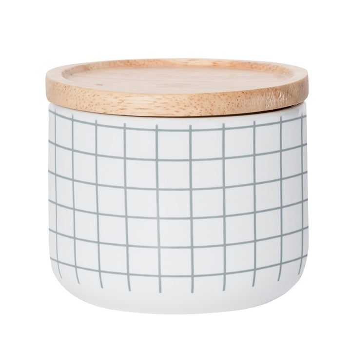 General Eclectic - Small Canister Grey Grid