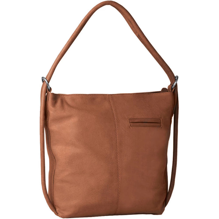 Gabee Indiana Soft Leather Convertable Backpack in Tan