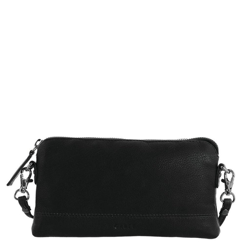 Gabee Kara Leather Purse With Strap in Black