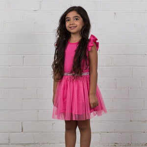 Hoot Kid My Way Party Dress in Pink