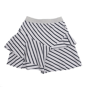 Hoot Kid All the Stripes Skirt in Navy/White Stripe