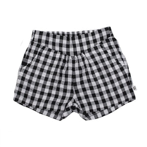 Hoot Kid Angelique Short in Black Check