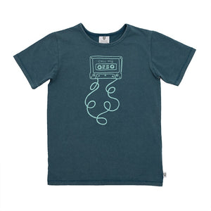 Hoot Kid Chill Mix Tee in Navy