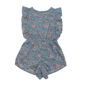 Hoot Kid Daydreamer Playsuit in Cornflower