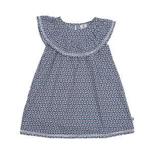 Hoot Kid Happy Days Dress in Blue