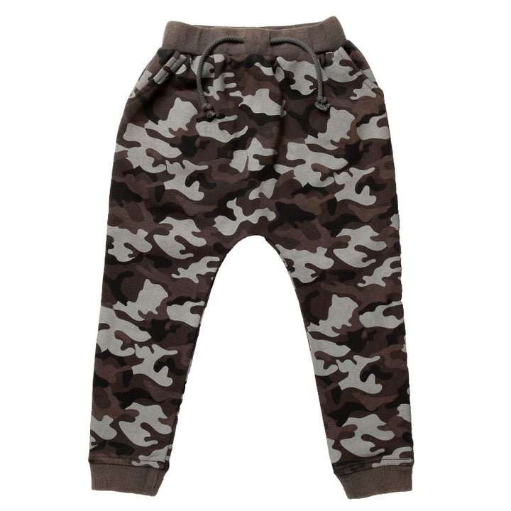 Hoot Kid Hide Out Skinny Pant in Washed Camo