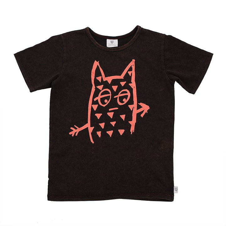 Hoot Kid Humf Tee in Black