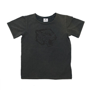 Hoot Kid Leopard Roar Tee in Graphite