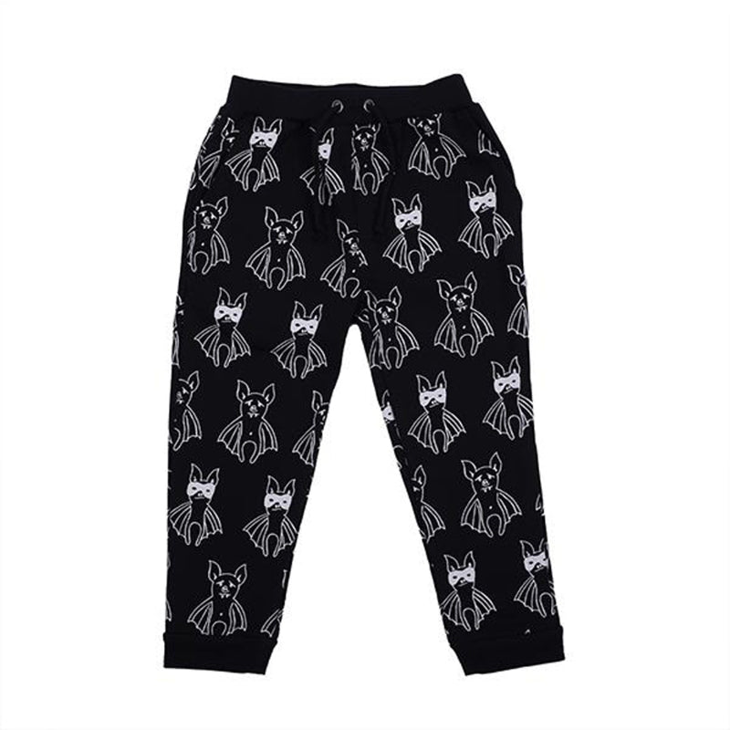 Hoot Kid Line Up Bats Weekend Pant in Black