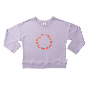 Hoot Kid Pascale Sweater in Lilac