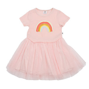 Hoot Kid Rainbow Sky Tutu in Ballet Pink