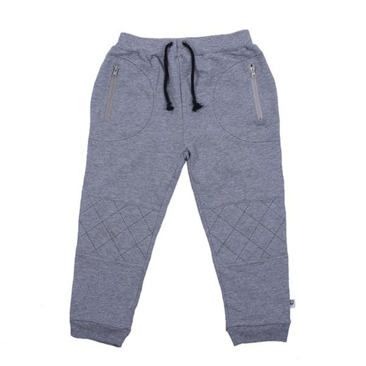 Hoot Kid Stitches Weekend Pant in Light Grey