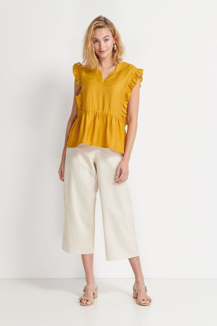 Imonni Melbourne - Beckett Frill Top - Amber Gold