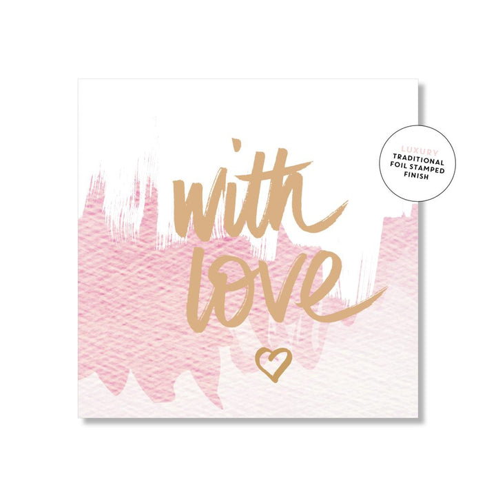 Just Smitten Mini Gift Card - With Love