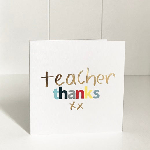 Just Smitten Mini Gift Card - Teacher Thanks