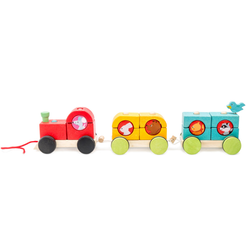 Le Toy Van Stacking Train Woodland Express