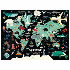 Mudpuppy - Your World Puzzle, 1000pcs