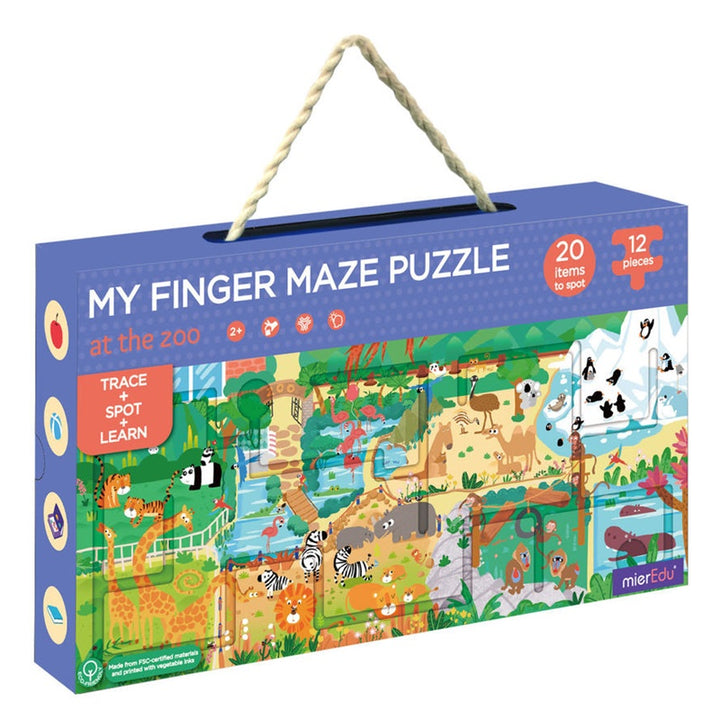 mierEdu - My Finger Maze Puzzle - At the Zoo