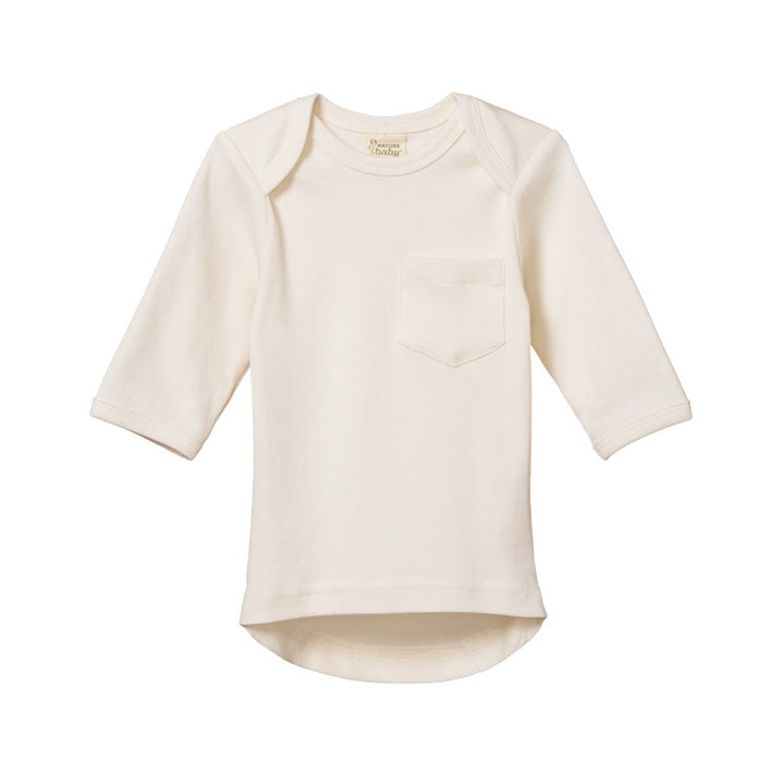 Nature Baby - Long Sleeve Pocket Tee - Natural