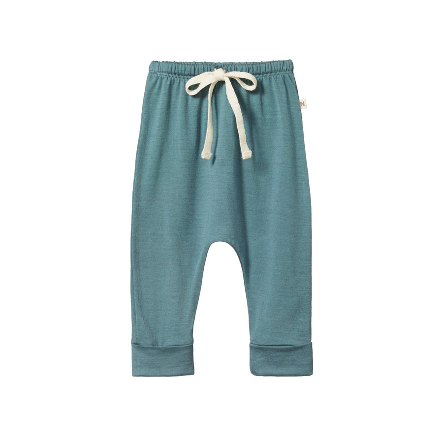 Nature Baby - Merino Drawstring Pants - Moss
