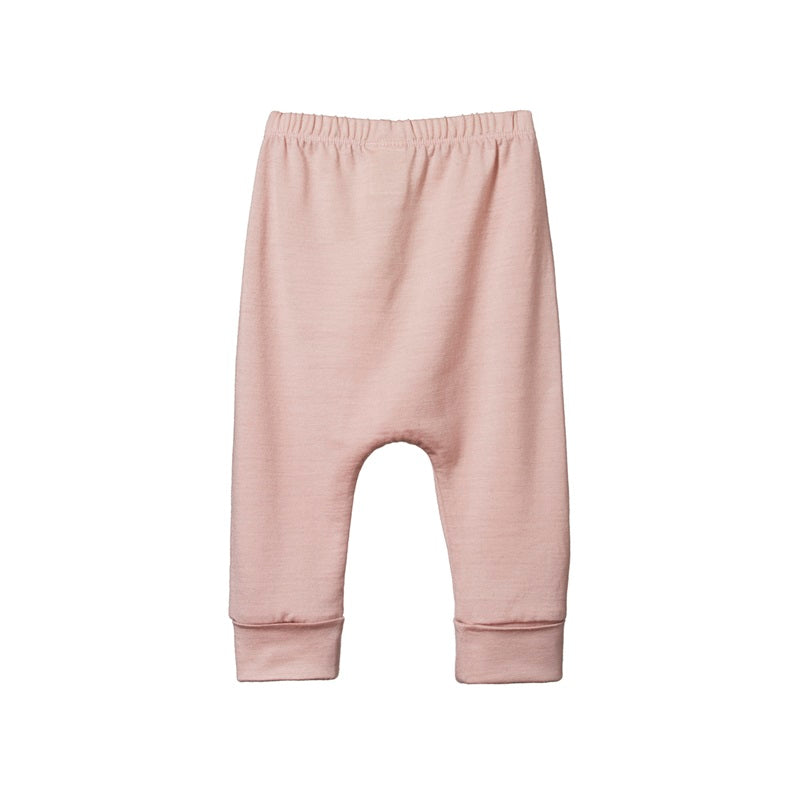 Nature Baby - Merino Drawstring Pants - Rose Bud