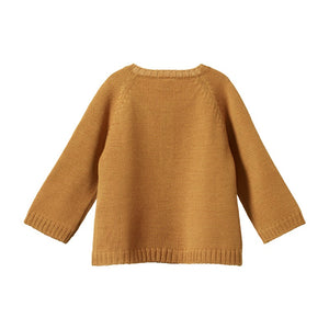 Nature Baby - Merino Knit Cardigan - Straw