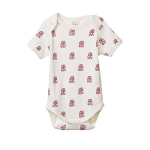 Nature Baby - Short Sleeve Body Suit - Tiki Print