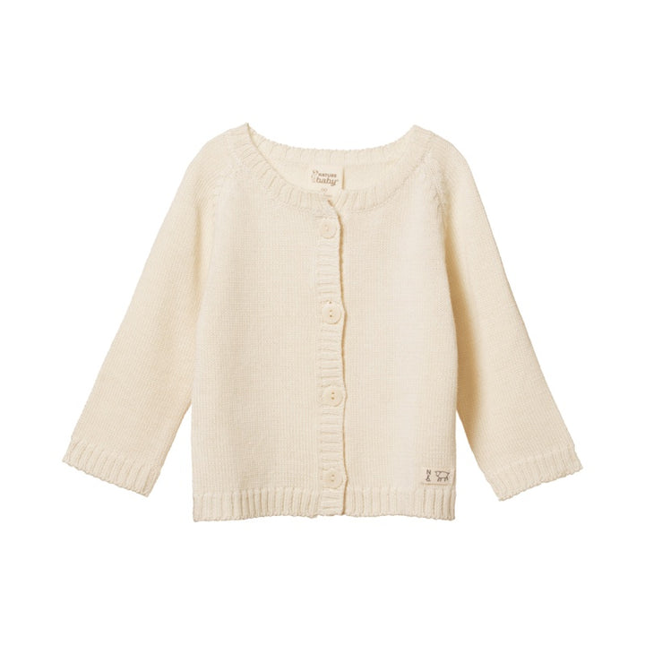 Nature Baby Merino Knit Cardigan in Natural