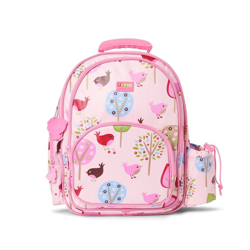 Penny Scallan Large Backpack in Chirpy Bird Print