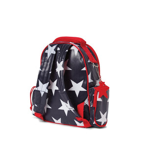 Penny Scallan Medium Backpack in Navy Star Print