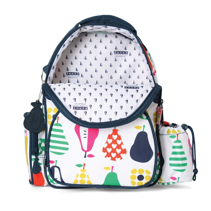 Penny Scallan Medium Backpack in Pear Salad Print