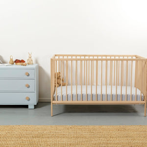 Eddy & Moss - Fitted Cot Sheet - Powder Blue