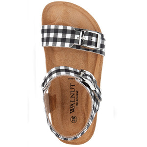 Walnut Melbourne - Prato Sandalia - Black & White Gingham