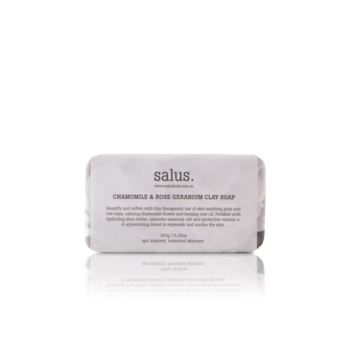 Salus Body Chamomile & Rose Geranium Clay Soap in 180g