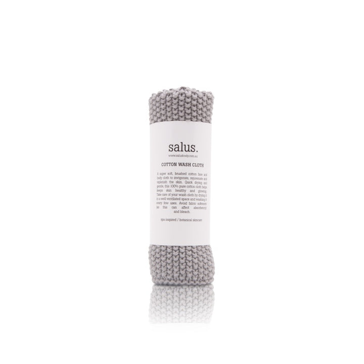Salus Body Cotton Wash Cloth in Grey