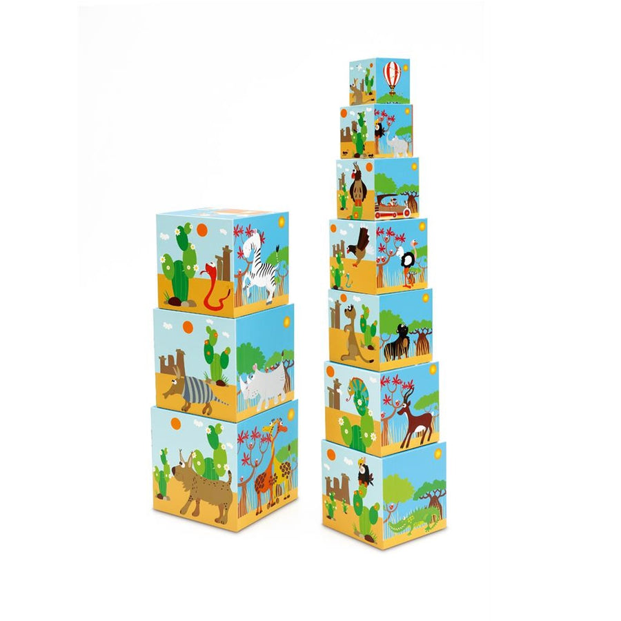 Scratch - Stacking Tower Jumbo, Animals of the World