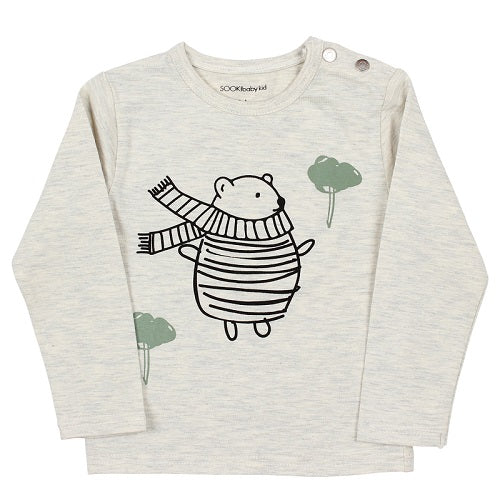 Sooki Baby - Bear Scarf Long Sleeve Tee