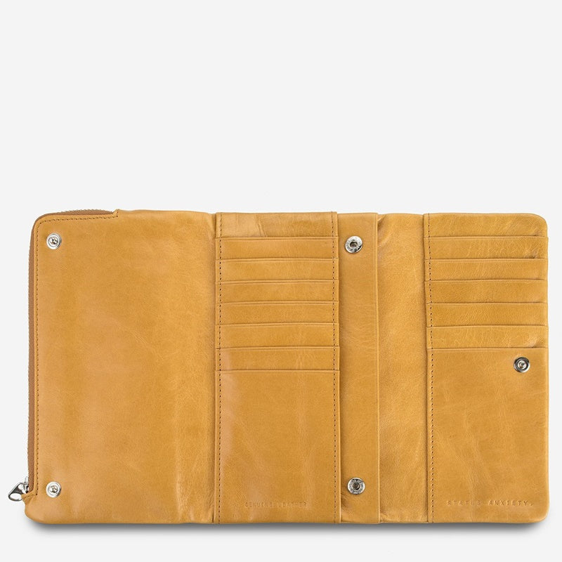 Status Anxiety Audrey Wallet in Tan
