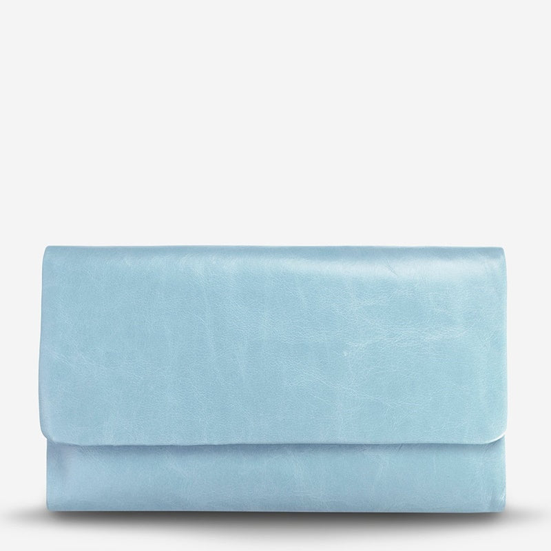 Status Anxiety Audrey Wallet in Sky Blue