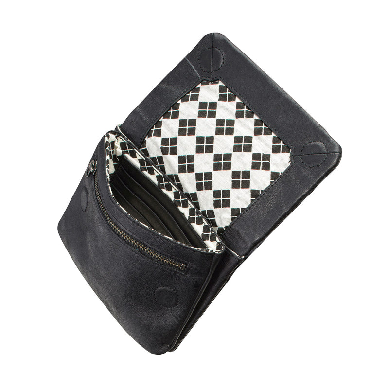 Status Anxiety Wallet Norma in Black Open