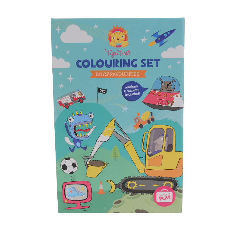 Tiger Tribe - Colouring Set Boys Favourites